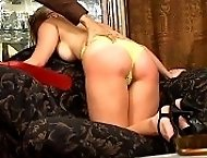 2 lovely misses spanked and caned on their bared asses
