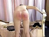 Pretty zoung lady is brutally spanked and humiliated in the dormitory