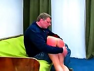 Sara gets caught in forbidden lingerie and endures a harsh spanking punishment