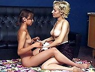 Lesbian teens spanked otk in the bedroom for disgusting behaviour - red quivering buttocks