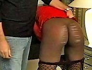 Ebony honey gets her dark skin marked and lashed by the cane