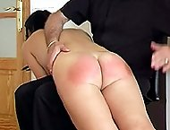 Naked young sweetie brutally spanked otk - quivering soft globes and tears of shame