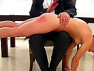 Naked and vulnerable young miss spanked and paddled until sorry - blistered ass cheeks